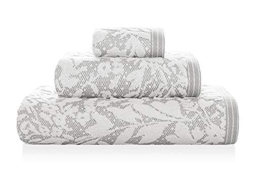 Matiss Serviette de Bain Gris/Blanc 70 x 140 cm