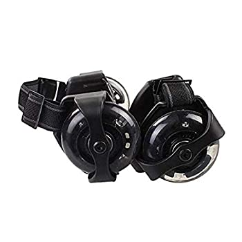 HUI JIN Heel Wheel Roller Skates Attachable Shoe Trainer Wheels for Kids Boys and Girls with LED Lights