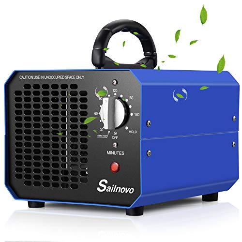 Purificador de Aire Generador de Ozono 10000 mg/ h con Temporizador de 180 Minutos Adecuado para Hogares, Oficinas, Restaurantes, Cafeterías, Hoteles y Garajes Gama de Purificación hasta 1000㎡