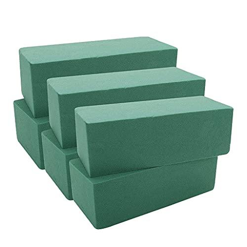 SM SunniMix 6 Piezas de Ladrillo de Musgo Floral Verde Húmedo, Fresco Y Seco, Organizan Bloque