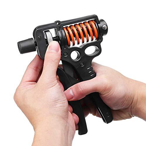 SISHUINIANHUA Handgreifer 15-50 kg Einstellbare Armkraft Trainer Sport Fitness Muscle Exerciser Ausrüstung Frühling Finger Karpalexpander