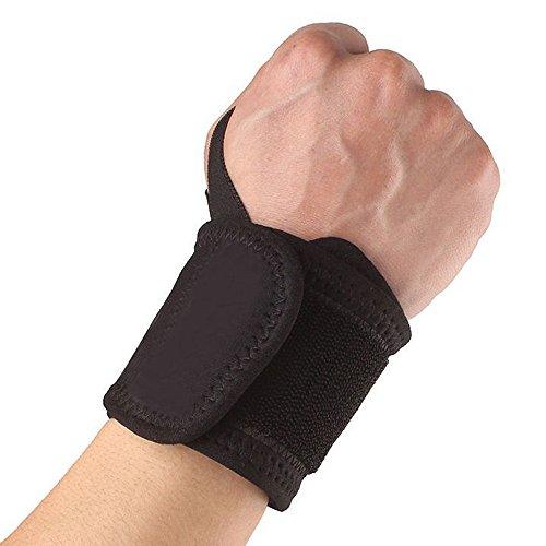 Pulseras deportivas ajustables, soporte para el pulgar, alivio del dolor en la muñeca Tila de compresión ajustable Muñequera Banda Brace Support Túnel carpiano Esguinces Esfuerzos Correa de gimnasio