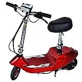 AOLI Scooter eléctrico, con asiento de silla de ruedas a prueba de explosiones Velocidad máxima 15 km/h Vespa plegable portátil para Adultos/Jóvenes