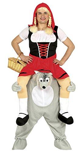 Guirca- Disfraz adulto carry me lobo, Talla 52-54 (88285.0)