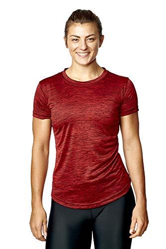 AA Sportswear Mujer Ropa Deportiva Fitness Camiseta Ligero Transpirable Top Deportivo Gimnasio Running Yoga Camiseta Mujer