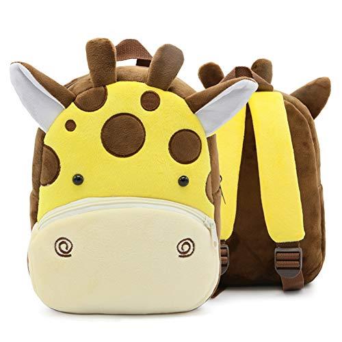 BETOY Mochila para Niña y Chico, Pequeño Mochilas Infantil Linda Mochilas para Guardería Animales 3D Suave Mochila de Felpa para Bebe…