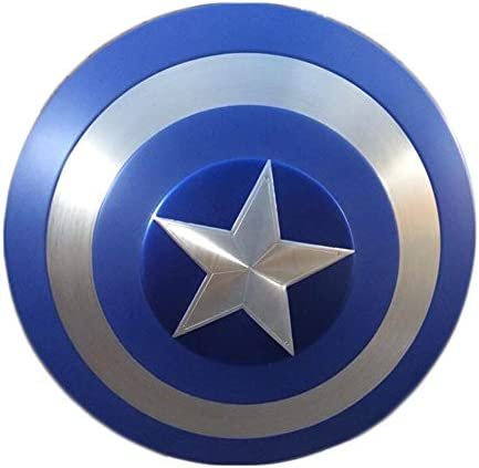 GYH Captain America's Shield Avengers Marvel,Metal Shield Advanced copy 1:1,Legends Series 22.5'' /Pure metal (color : Classic version)