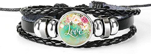 Pulsera Pulsera Exquisita Believe Art Glass Dome Charm Bracelet Hymn Jewelry Gift (Color: 16) 9
