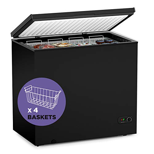 Northair Chest Freezer - 7 Cu Ft with 4 Removable Baskets - Reach In...