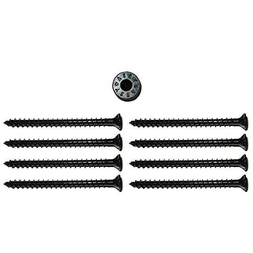 foto-kontor 8 Assy Senkkopf Spezial Holzschrauben 5x70mm in schwarz Gewinde asymmetrisch Lautsprecherschrauben