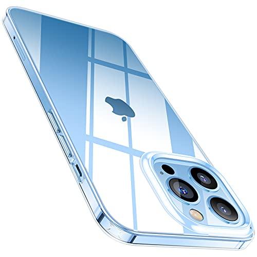 TORRAS Crystal Clear Kompatibel mit iPhone 13 Pro Hülle (Nicht Vergilbend) Dünn & Weiches Komfortabler iPhone 13 Pro Hülle Stoßfeste Handyhülle iPhone 13 Pro Schutzhülle,Transparent