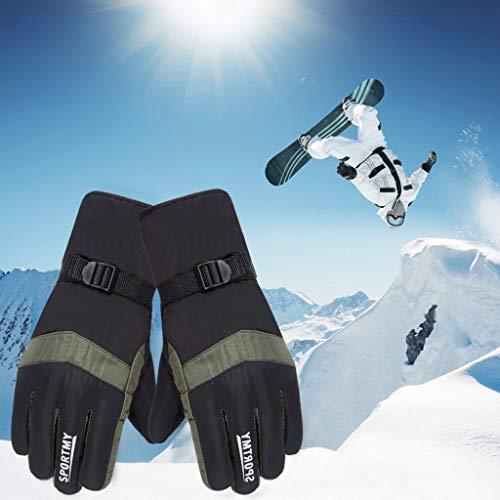 Factorys wasserdichte Herren Skihandschuhe Winter Warm Thermal Velvet Snowboard Snowmobile Kaltwetterhandschuhe