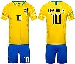 2018 Russia World Cup Football Jersey Brazil Team No.10 Neymar Football suits Short-sleeved T-shirt -code