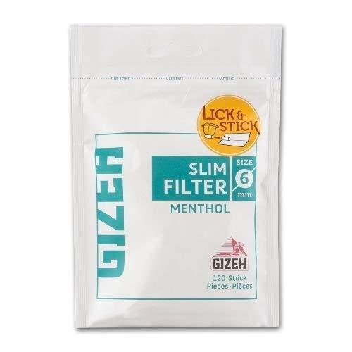 Zigarettenfilter Gizeh Slim Menthol 1 Beutel à 120 Filter