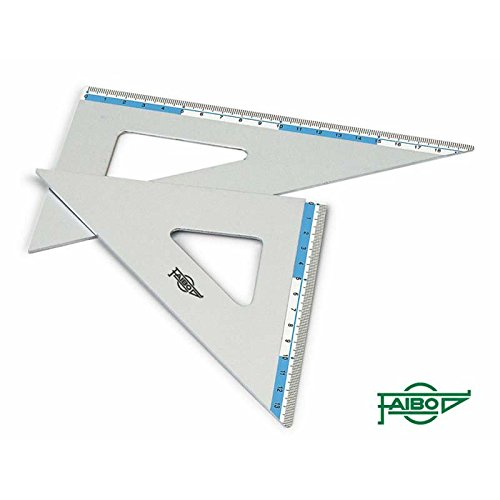 Faibo Escuadras 45º y cartabones 60º en aluminio de alta (21 cm.)