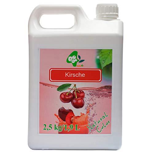 Fruchtsirup für Bubble Tea Kirsche 2,5kg 1900 ml ohne künstliche Farbstoffe