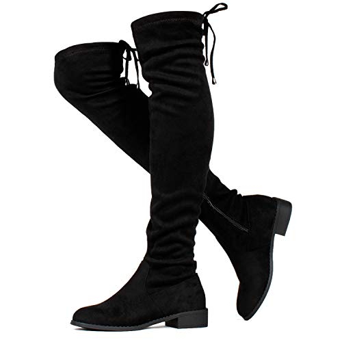 RF ROOM OF FASHION Tokyo-25 Women's Stretchy Over The Knee Riding Boots Black SU Size.11