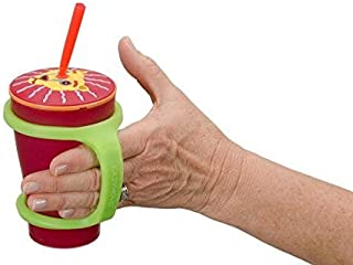 EazyHold Sippy Cup/Baby Bottle Holder, Eating and Drinking Aids (2 Pack) for Special Needs - Universal Cuff – Cell Phone - Remote Holder - Adaptive Utensil and Drinking Aid - 100% Silicone (Sippy)