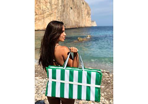 Pincho Esterilla Acolchada de Playa (Verde Rayas)