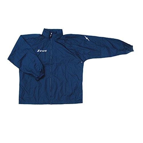 K-way Rain Blu Corsa Sport Uomo Pioggia Running jogging Allenamento Relax Calcio Calcetto Impermeabile Scuola Sport (L)