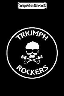 Composition Notebook: Triumph Rockers Black Biker Motorcycles Notebook