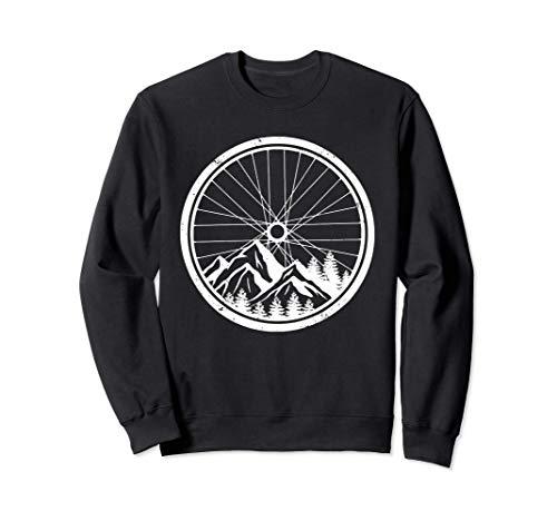 Mountainbike-Reifen Natur Radfahren Outdoor Biking Biker Sweatshirt