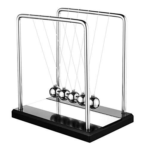 DOTSOG Oversized Newton's Cradle, Desk Table Decor Metal Pendulum Ball Newton Ball Physics Science...