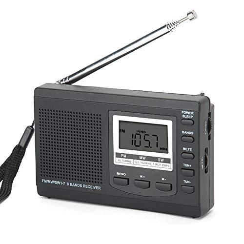 Socobeta Durchsuchen Sie Mini-Radios automatisch nach Radiosendern(Black)