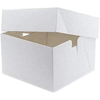 Color blanco cajas de cartón cuadradas para tartas – 10