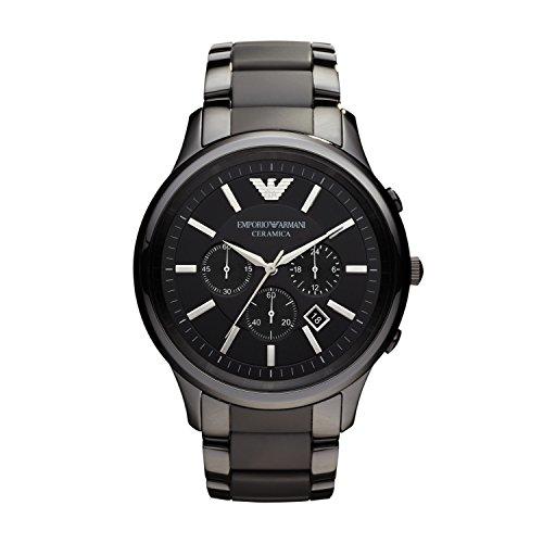 Emporio Armani Classic - Reloj (Reloj de Pulsera, Masculino, Acero Inoxidable, Negro, Acero Inoxidable, Negro)