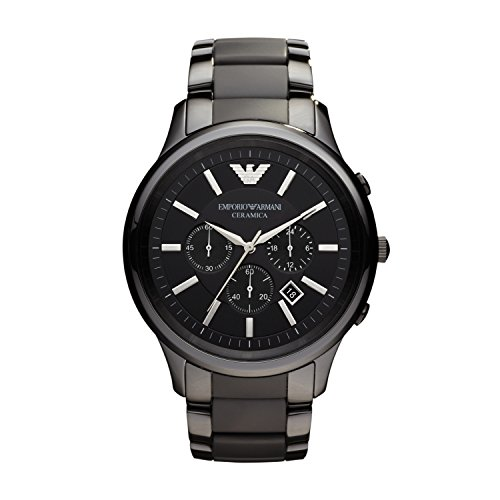 Emporio Armani Herren Chronograph Quarz Uhr mit Edelstahl Armband AR2453