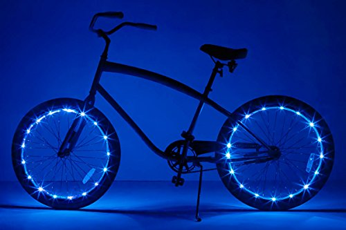 Brightz WheelBrightz LED Bicycle Wheel Accessory Light (2-Pack Bundle for 2 Tires), Blue
