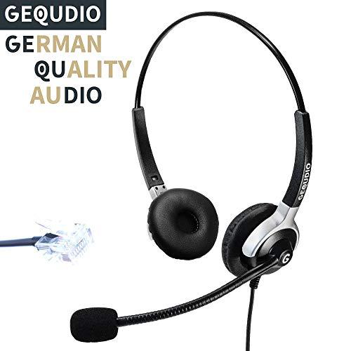 Auricular con micrófono para Unify® OpenStage 30 40 60 80, OpenScape teléfonos con conector RJ | 80 g de peso