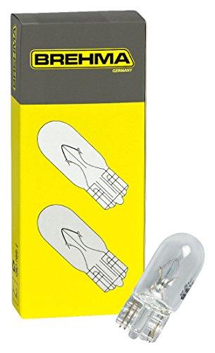 10x Brehma W5W Standlicht Autolampen T10 12V 5W Kennzeichenbeleuchtung Kofferraumbeleuchtung Innenraumbeleuchtung
