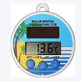 Bearbro Termómetro Digital para Piscina,Flotante De Energía Solar Medidor De Temperatura para Las Piscinas al Aire Libre Interior, Spas