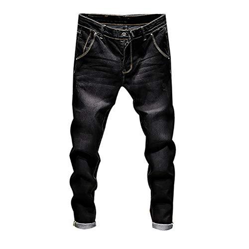 ZZmeet Mens Skinny Potlood Broek Slim Jeans Mens Slim Broek Zomer Lange Pantalonen