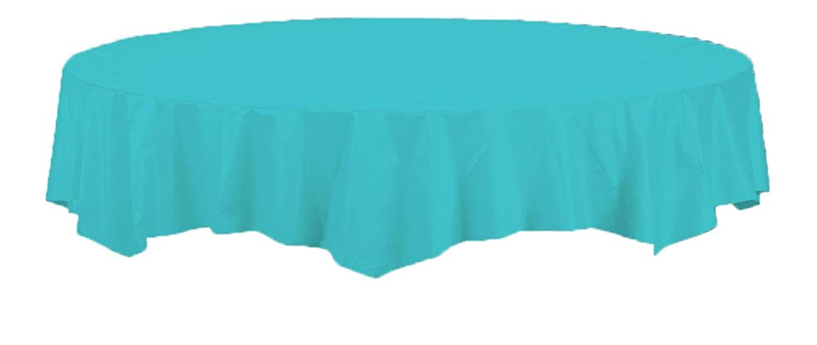 Creative Converting Touch of Color Octy-Round Paper Table Cover, 82-Inch, Bermuda Blue - 71041