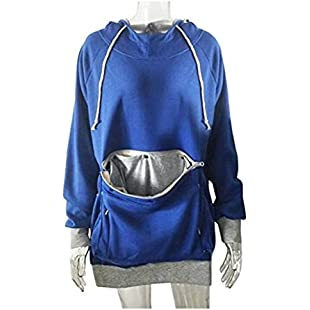 FlowerKui Pet Holder Pouch Pocket T-Shirt Tops Blouse Pullover-S for Fashion Clothing (Color  Blue, Size  S):Amedama