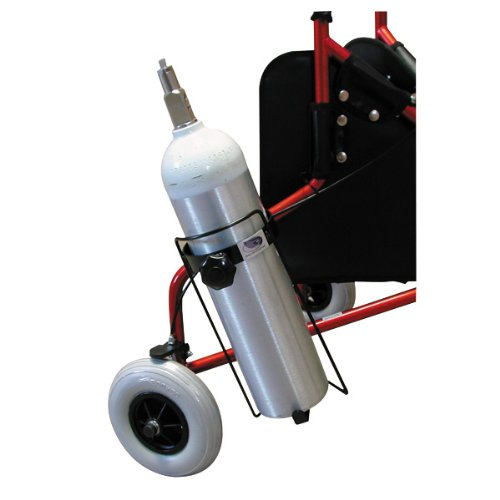 Complete Medical Oxygen Tank Holder for Walkers and Rollators, 2 Pound