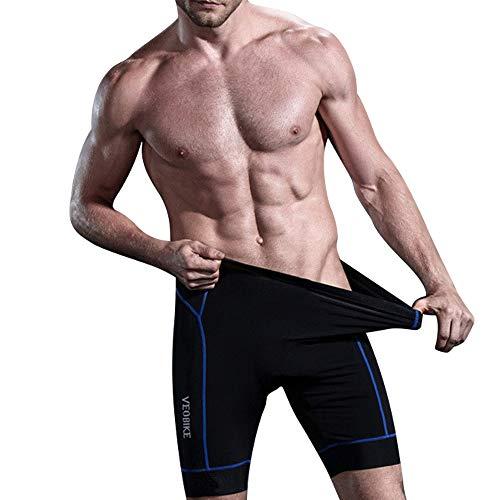 N+A d.Stil Herren Fahrrad Unterhose Gel 4D mit Sitzpolster Atmungsaktiv und Elastisch für MTB Radsport Fahrrad Unterwäsche M- 3XL (Blau, 3XL)