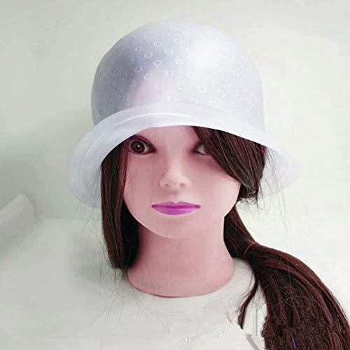 Wiederverwendbare Silikon-Haar-Highlight-Kappe für Salon, Haarfarbe, Färbung und Metallhaken