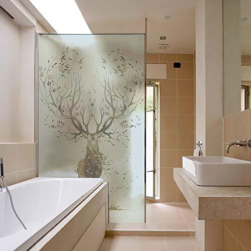 LJIEI Fensterfolie Mattes Fenster Schlafzimmer Schiebetür Bad Wasserdichte Sonnencreme Transparente Undurchsichtige Glasfolie