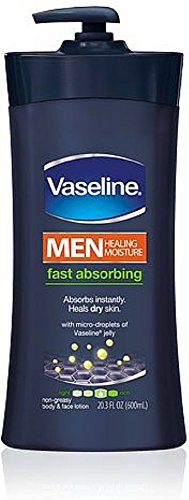 Vaseline Men Fast Absorbing Body and Face Lotion 24.5 Ounce (Pack of 6)