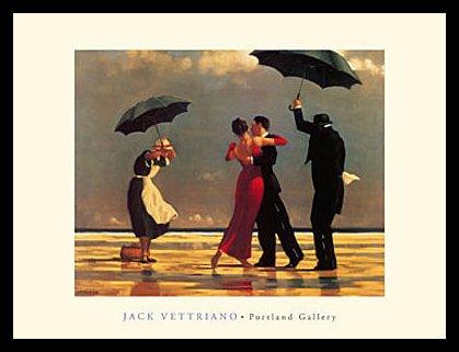 Germanposters Jack Vettriano The Singing Butler Poster Kunstdruck Bild mit Alu Rahmen in schwarz 56x46cm