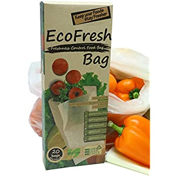 ACHub Reusable Produce Saver Bags - BPA Free Food Saver Green Bags, Keep Fruits and Vegetables Fresh Longer - 20pc XL Produce Bags