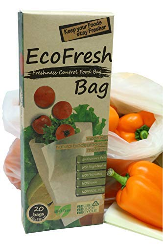 ACHub Reusable Produce Saver Bags - BPA Free Food Saver Green Bags, Keep Fruits and Vegetables Fresh Longer - 20pc XL Produce Bags