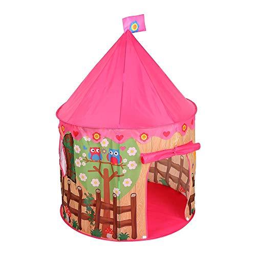 XinQing-Tienda Carpa Infantil, Tela de poliéster, Princesa Cubierta Aire Acondicionado Mosquitera, Impreso Yurt, diversión Juguete Océano Ball Pool, 100x100x135cm Plegable