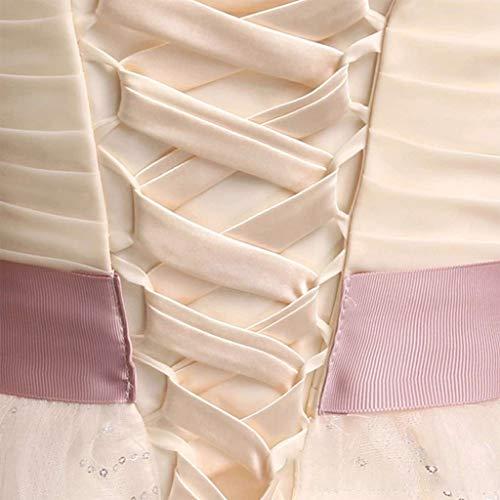 PHILSP118Inch Brautkleid Reißverschluss Ersatz verstellbare Korsett-Rücken Kit Schnür Satin Band Krawatten für Braut Bankett Abendkleid Champagner