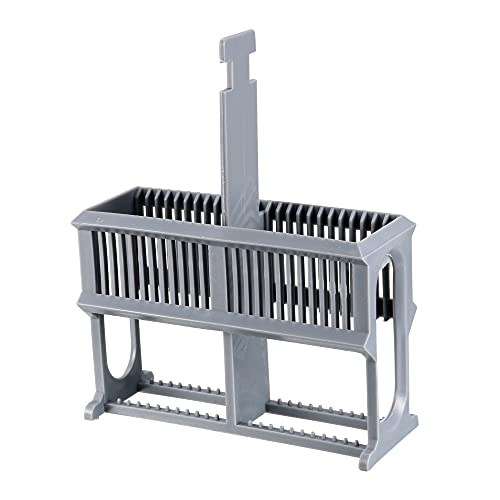 uxcell Microscope Slides Rack 24 Positions Polypropylene Staining Rack Gray for Research Experiments