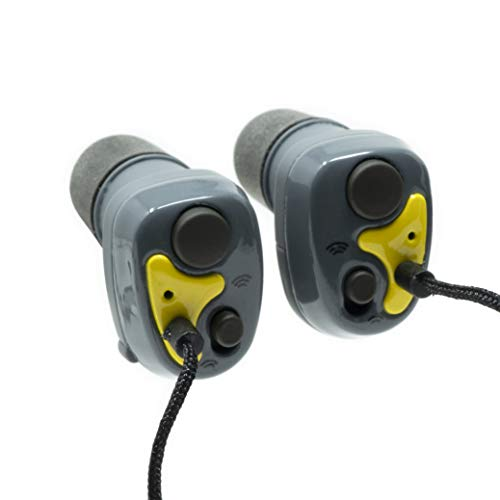 Saf-T-Ear SafetyBuds Electronic Hearing Protection, Yellow (ERSTEBUDS)
